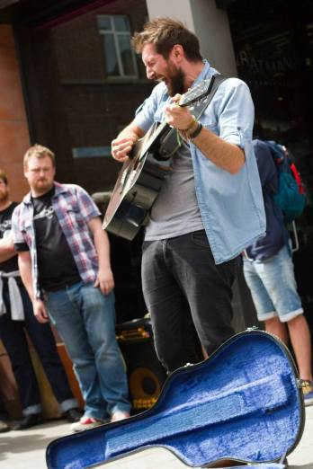 Busking event on Grafton Street, Once 2015